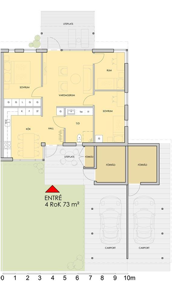 Planlösning 4 rum och kök