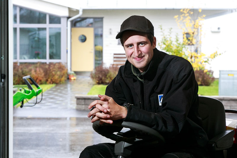 Tim Johansson, fastighetskötare och boende på Valfridsbo